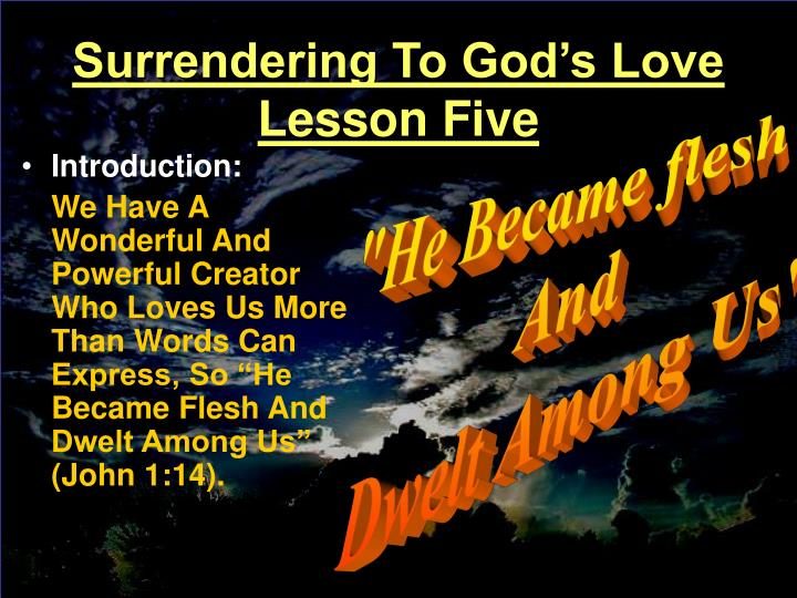 surrendering to god s love lesson five n.