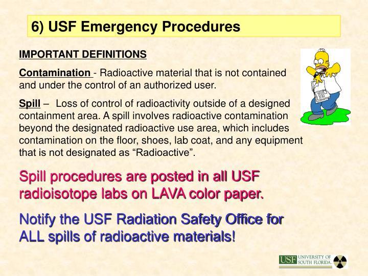 6) USF Emergency Procedures