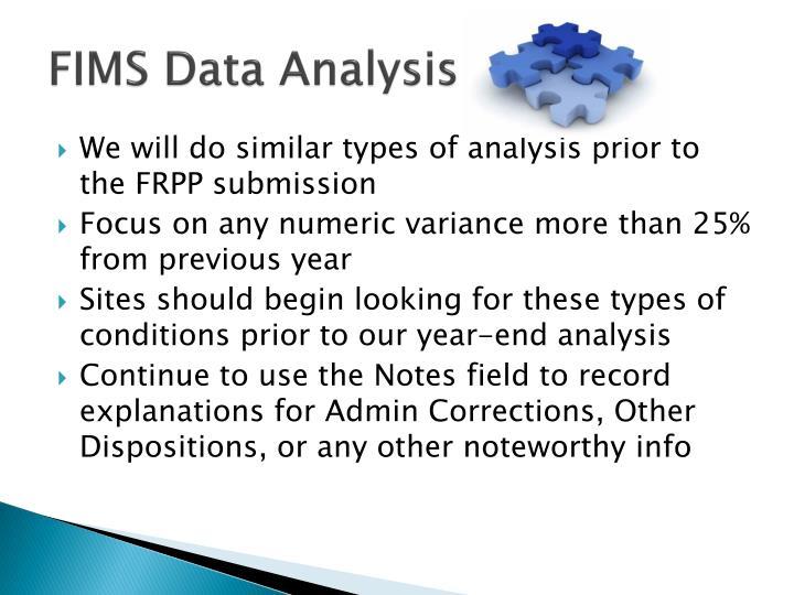 FIMS Data Analysis