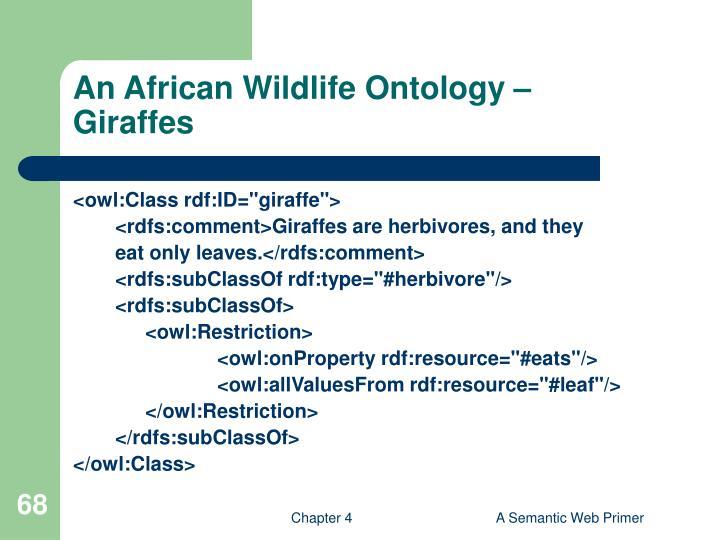 An African Wildlife Ontology –
