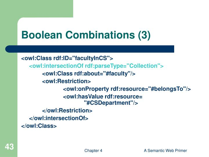Boolean Combinations (3)