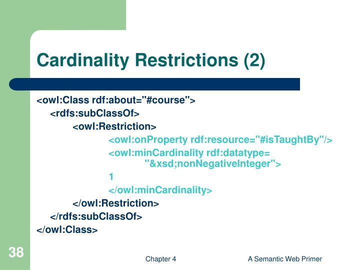 Cardinality Restrictions (2)