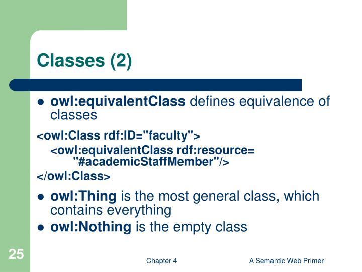 Classes (2)