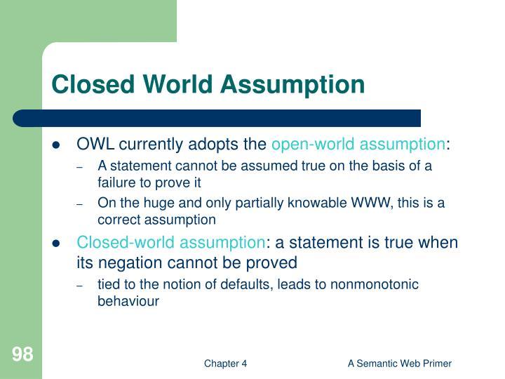 Closed World Assumption