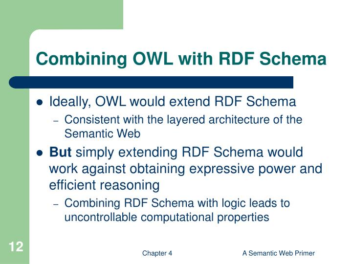 Combining OWL with RDF Schema