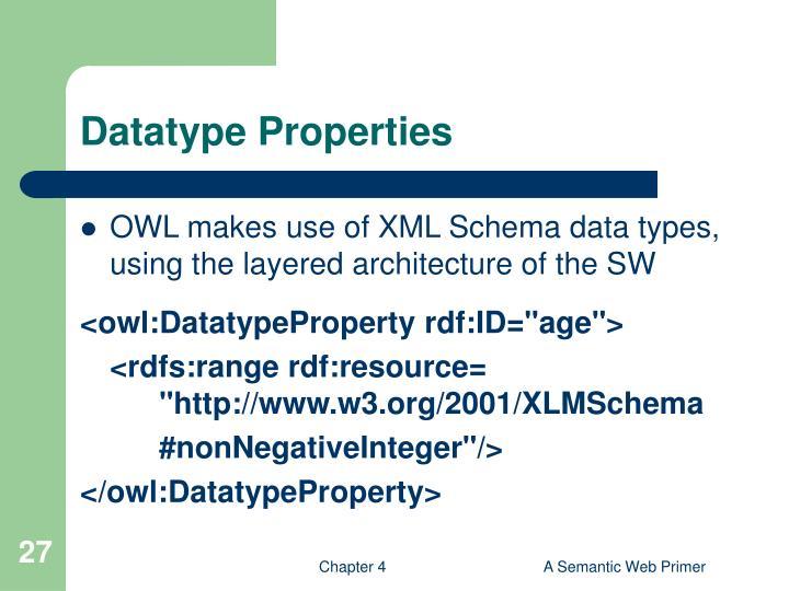 Datatype Properties