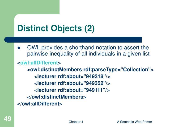 Distinct Objects (2)