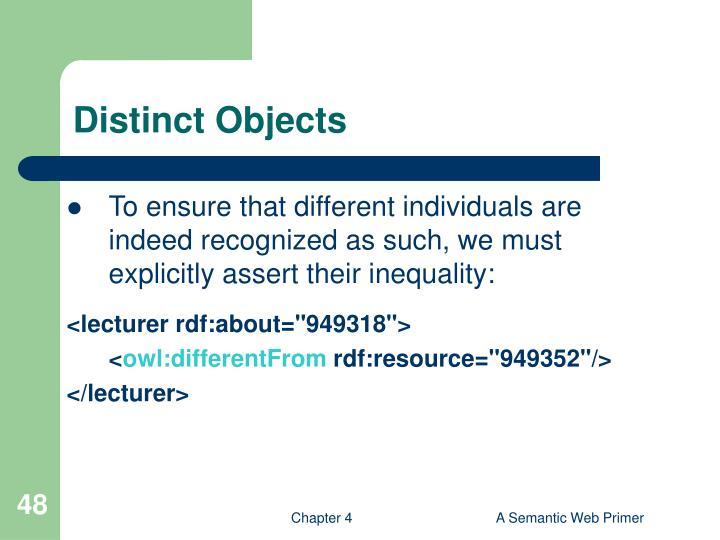 Distinct Objects