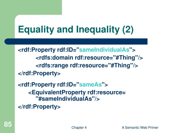 Equality and Inequality (2)