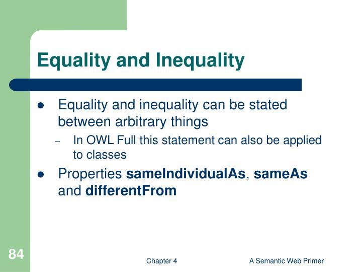 Equality and Inequality