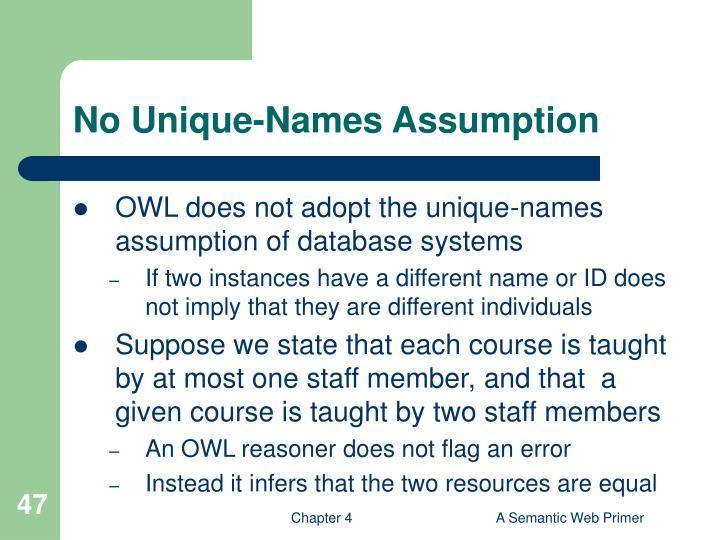 No Unique-Names Assumption