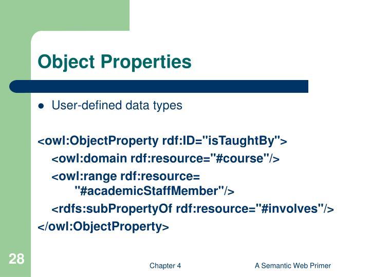 Object Properties