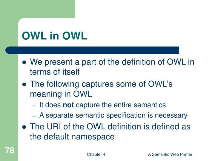 OWL in OWL