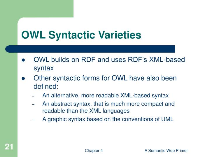 OWL Syntactic Varieties