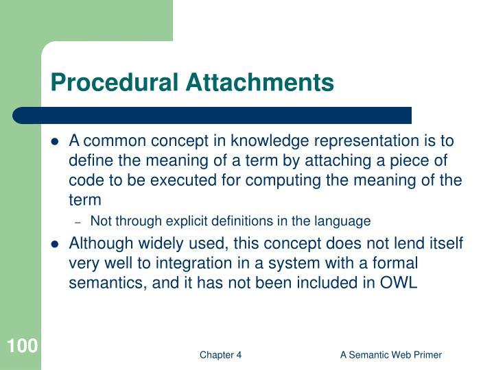 Procedural Attachment