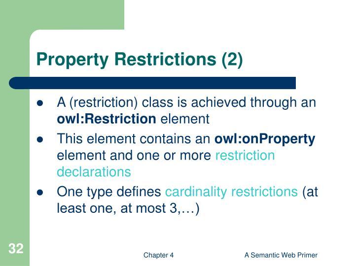 Property Restrictions (2)