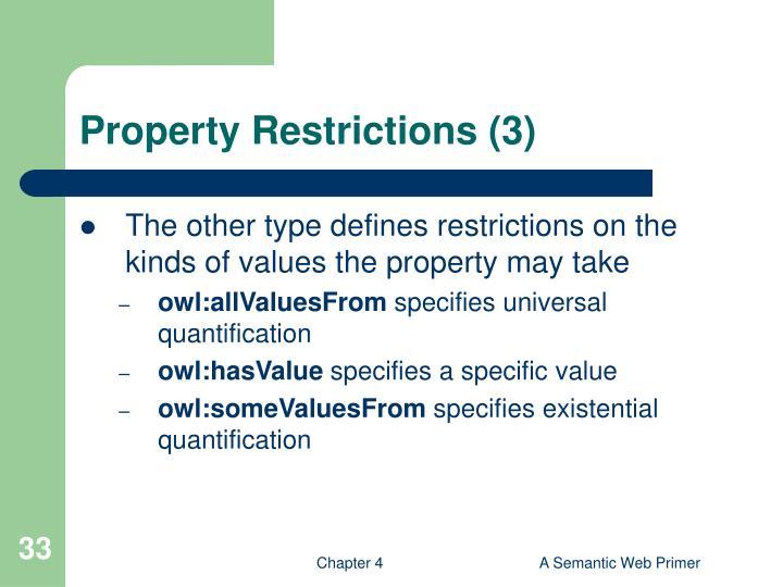 Property Restrictions (3)