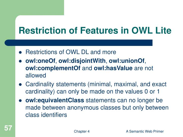 Restriction of Features in OWL Lite