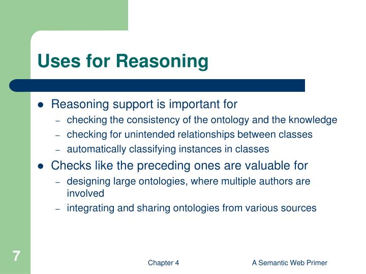 Uses for Reasoning