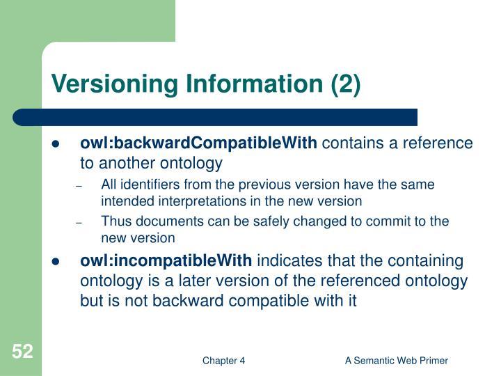 Versioning Information (2)