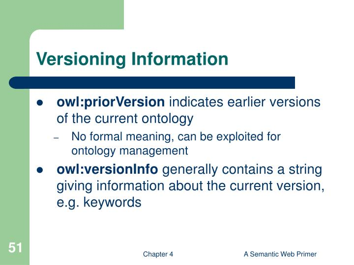Versioning Information