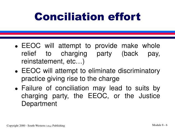 Conciliation effort