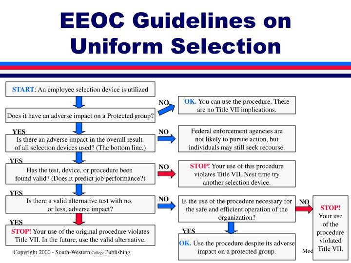 EEOC Guidelines on Uniform Selection