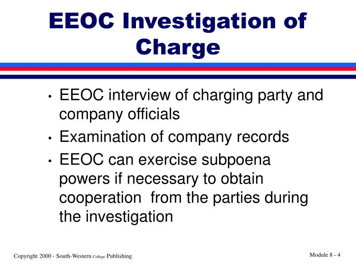 EEOC Investigation of Charge