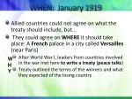 when january 1919