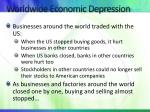 worldwide economic depression