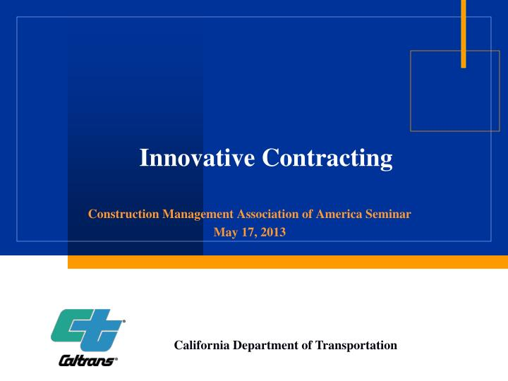 innovative contracting n.