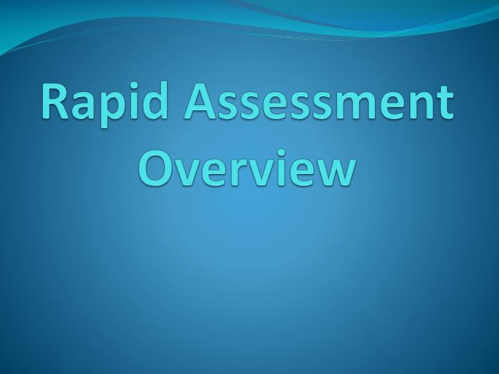 rapid assessment overview n.