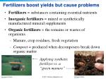 fertilizers boost yields but cause problems