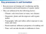 key processes in soil formation