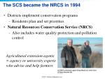 the scs became the nrcs in 1994