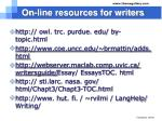 on line resources for writers