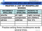 techniques for spelling improvement1
