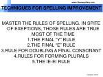 techniques for spelling improvement2