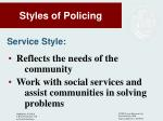 styles of policing3