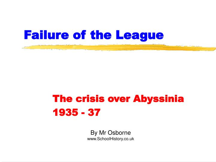 failure of the league n.