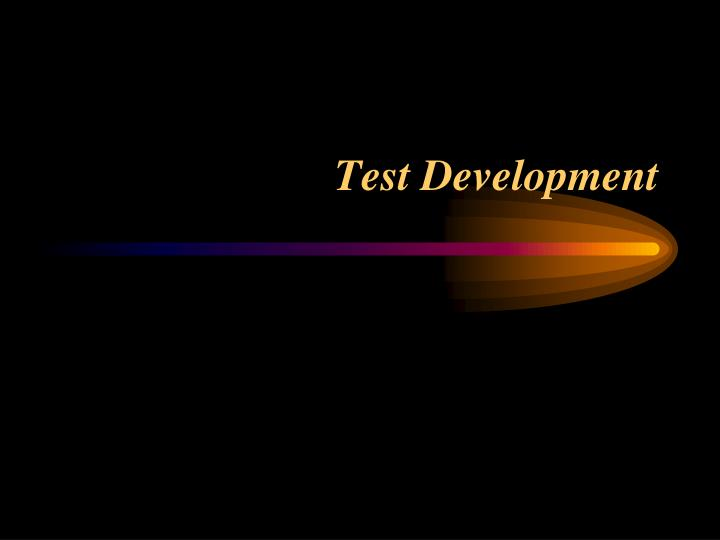 test development n.
