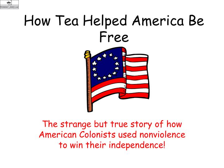 how tea helped america be free n.