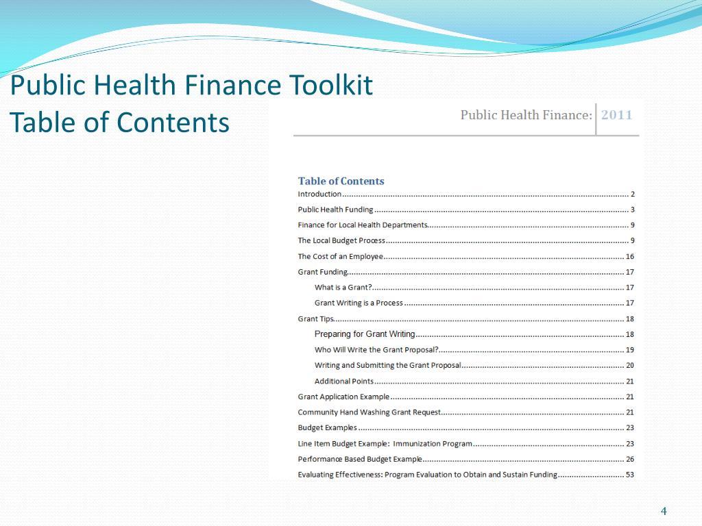 PPT - Public Health Budgeting 101 PowerPoint Presentation