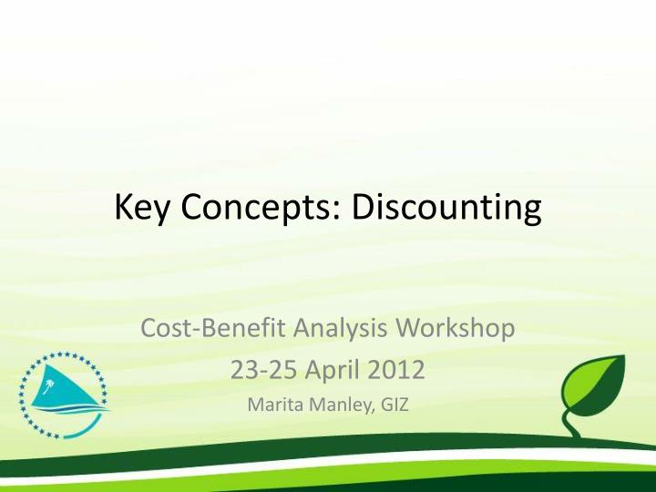 key concepts discounting n.
