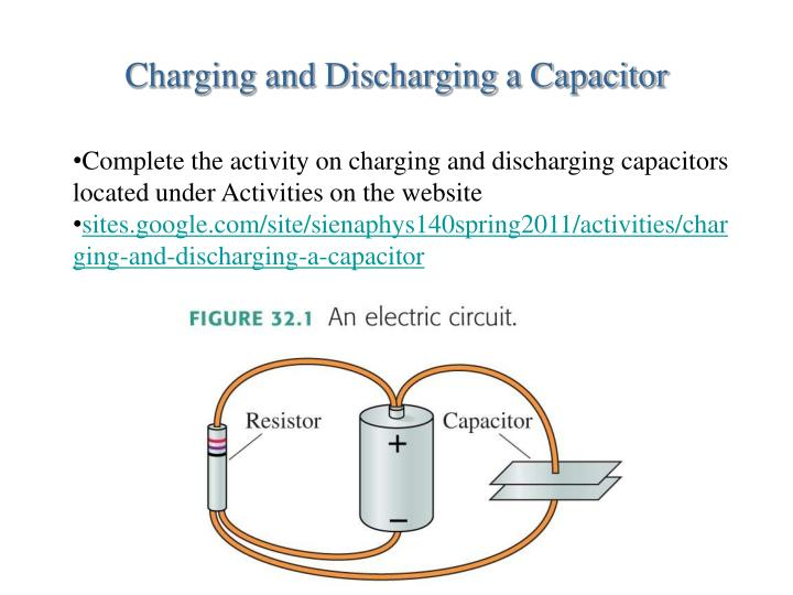 charging and discharging a capacitor n.