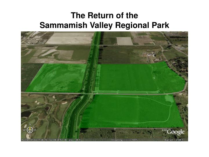 the return of the sammamish valley regional park n.