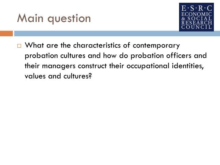 Main question