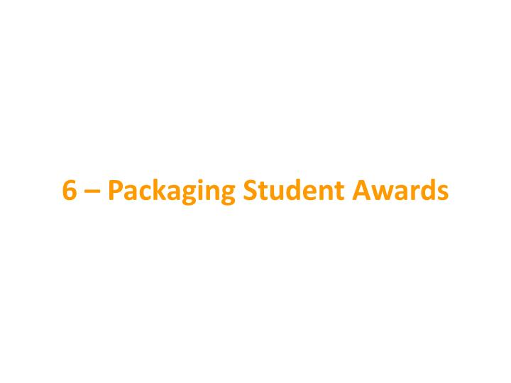 6 – Packaging Student Awards