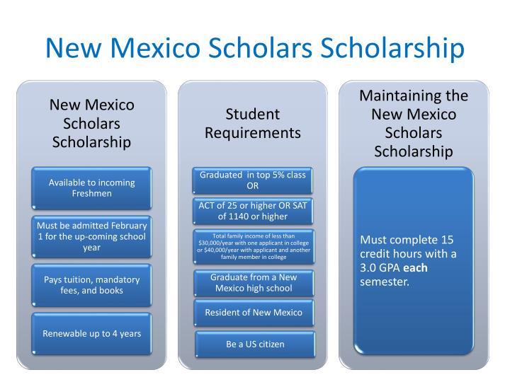 New Mexico Scholars Scholarship