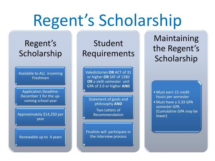 Regent's Scholarship